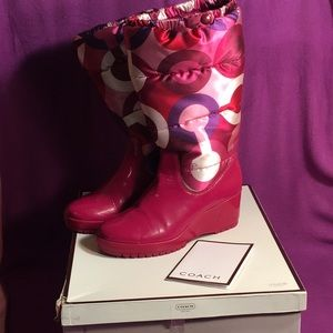 Coach Shoes - COACH Limited Edition Berry Boots w/box